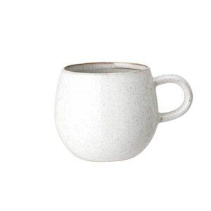 Mug en grès Addison Blanc Bloomingville