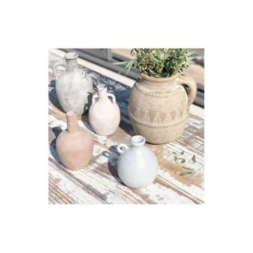 Vase Amphore blanc en terre cuite