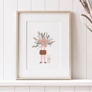 Affiche Le gros bouquet – Poster A4