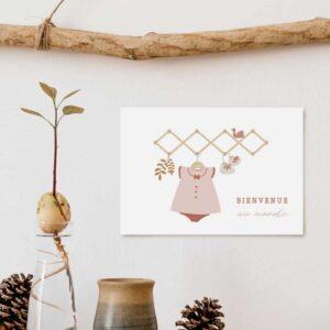 Carte postale Bienvenue au monde rose