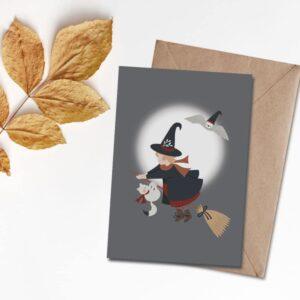 Carte postale Ma petite sorcière bien aimée