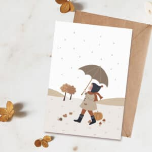 Carte postale Sous mon parapluie