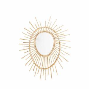 Miroir ovale avec cadre en bambou Madam Stoltz