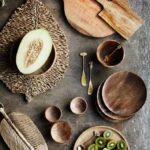 Planche ronde en bois de manguier Madam Stoltz