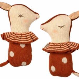 Hochet Bambi en tricot Maileg