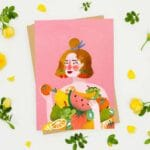 Carte postale Lady Fruit – Laura Lhuillier