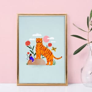 Giant Tiger – Laura Lhuillier – Affiche A5