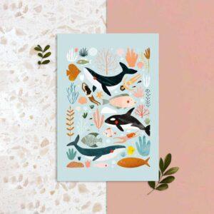 Sea Life – Laura Lhuillier – Affiche A3