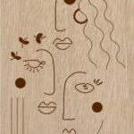 Les Muses – Panneau bois – Ombeline Brun