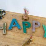 Mot Happy Vintage – Lettres en bois 20 cm