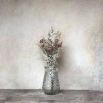 Vase transparent en verre – motifs diamant