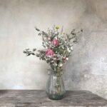Vase transparent en verre – motifs ligne
