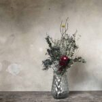 Vase transparent en verre – motifs losange