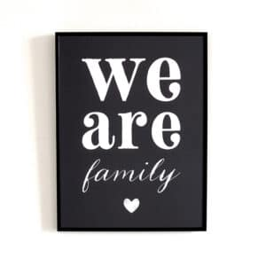 Affiche We Are Family / Cinq Mai