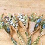 Mini bouquet de fleurs séchées