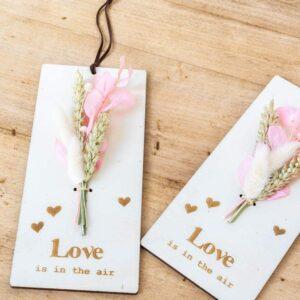 Créations bois et fleurs séchées rectangle
