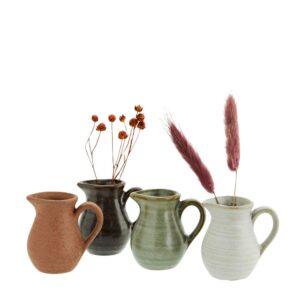 Lot de 4 petits vases en grès Madam Stoltz