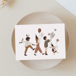 Carte postale C'est la fête