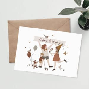 Carte postale Happy birthday