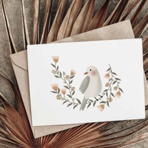 Carte postale La couronne de l'oiseau