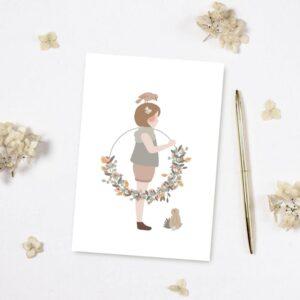 Carte postale La petite fille à la couronne