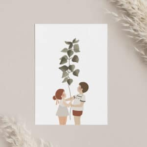 Carte postale La plante géante