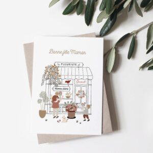 Carte postale Maman Fleuriste