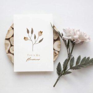 Carte postale You and Me Fleurever
