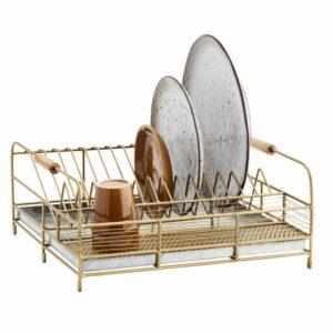 Égouttoir à vaisselle doré Madam Stoltz