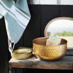 Miroir goutte avec cadre en bambou Madam Stoltz